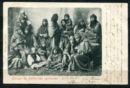 CARTOLINA CV2398 LIBANO LIBAN Groupe De Béduines Syriennes, 1902, Viaggiata Per L'Italia, Formato Piccolo, Francobollo A - Libano