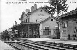 CPA De PORT D'ATELIER (Haute-Saône) - Arrivée Du Train De Belfort à Paris. Edition Cueillette. N° 3. 1909. B état. - France