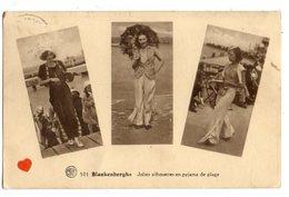 34784-ZE-BELGIQUE-Blankenberghe-Jolies Silhouettes En Pyjama De Plage-----------multivues - Blankenberge