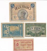 1 X 2 FRANCS , 2 X 1 FRANC , 1 X 50 CENT  2 Scans - Bons & Nécessité