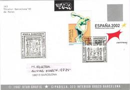 31477. Tarjeta EL VENDRELL (Tarragona) 2002. Homenaje SAMARANCH, Deporte - 1931-Hoy: 2ª República - ... Juan Carlos I
