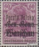Pologne 13II Avec Charnière 1918 Allemagne Avec Surcharge - ....-1919 Provisional Government