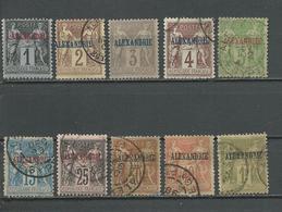 ALEXANDRIE Scott 1,2,3,4,5,7,9,10,11,13 Yvert 1,2,3,4,5,9,11,12,13,16 (10) O Et * 71,00 $ 1899-1900 - Alexandrie (1899-1931)