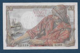 Billet  20 F  Pêcheur  Du  17 - 5 - 1944 - 1871-1952 Anciens Francs Circulés Au XXème
