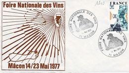 TP N° 1909 Seul  Sur Enveloppe De La Foire Des Vins DeMâcon - 1961-....