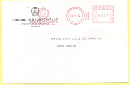 ITALIA - ITALY - ITALIE - 2002 - 00,41 EMA, Red Cancel - Comune Di Bagnacavallo - Viaggiata Da Bagnacavallo Per Lugo - Affrancature Meccaniche Rosse (EMA)