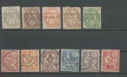 ALEXANDRIE Scott 16-25, B1 Yvert 19-28, 34 (11) O Et * 17,00 $ 1902-15 - Alexandrie (1899-1931)