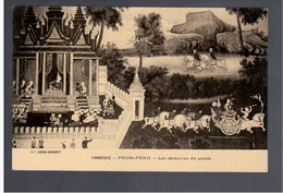 CAMBODGE Pnom- Penh Les Peintures Du Palais Ca 1910 OLD POSTCARD - Cambodia