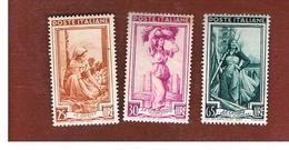ITALIA REPUBBLICA - UN. 643.650    -   1950  ITALIA AL LAVORO (RUOTA)      - NUOVI LINGUELLATI (UNUSED) * - 6. 1946-.. Republic