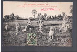 CAMBODGE Kompong- Cham. Lions Et Garudas Défendant L'entrée Du Temple De Vat-Nokor 1912 OLD POSTCARD - Cambodia