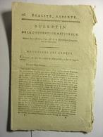 BULLETIN CONVENTION NATIONALE 1795 - NOUVELLES DES ARMEES MAYENCE - CASERNEMENT GENDARMERIE PARIS - DAX TARASCON LODEVE - Décrets & Lois
