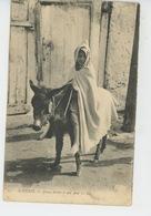 ETHNIQUES ET CULTURES - AFRIQUE DU NORD - ALGERIE - Jeune Arabe Et Son âne - Afrique