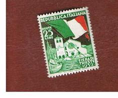 ITALIA REPUBBLICA - UN. 694    -   1952  FIERA DI TRIESTE     - NUOVI LINGUELLATI (UNUSED) * - 6. 1946-.. Republic