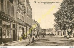 18.  SAINT AMAND MONTROND . Rue Nationale . - Saint-Amand-Montrond