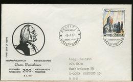 FINLANDIA - SUOMI FINLAND - FDC 1977 -  PAAVO  RUOTSALAINEN - Finlandia