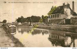 18.  SAINT AMAND MONTROND .  Quai Lutin Sur Le Canal Du Berry . - Saint-Amand-Montrond