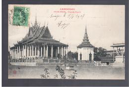 CAMBODGE Pnom- Penh Pagode Royale 1907 OLD POSTCARD - Cambodia