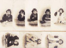 Hu127 Série De 8 CP Humour Anticlérical Enfants Petit Curé Carte-Photo 1900s C.M Paris - Enfants