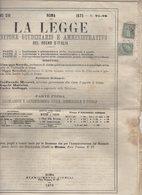 "Journal ""LA PROVINCIA DI BELLUNO"" Avec 1Cmi +5 Cmi Vert Olive De 1863 Seul Sur Document Oblt ROMA SUCCURSALE 1 - Marcophilie"
