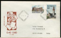 FINLANDIA - SUOMI FINLAND - FDC 1973 -  0,40  0,60  MONUMENT - Finlandia