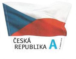 867 Czech Republic Flag 2015 - Briefmarken