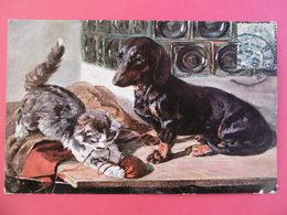 CARTE FANTAISIE  - Thème Du Chien - TECKEL - Hunde