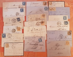 France - Lot De 18 Lettres - DEPART 1 EURO - Avec Bonnes Oblitérations Et Destinations - TTB - 1849-1876: Période Classique