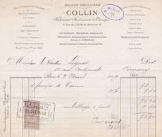 75 PARIS FACTURE 1909 Fabricant Instruments De Chirurgie  Maison Charrière COLLIN    X17 - France