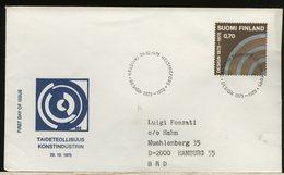 FINLANDIA - SUOMI FINLAND - FDC 1975 -  DESIGN INDUSTRIA - Finlandia