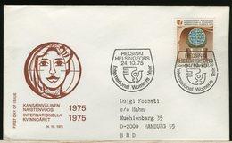 FINLANDIA - SUOMI FINLAND - FDC 1975 -  INTERNATIONAL  WOMEN  YEAR - Finlandia