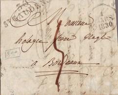 220 DA Jolie Lettre Obl St Gaudens 1830 - Marcophilie (Lettres)