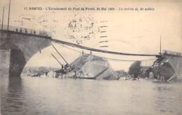 EVENEMENT Catastrophe - 44 - NANTES : L'Ecroulement Du Pont De Pirmil - La Brèche De 4O Mètres - CPA - Loire Atlantique - Katastrophen