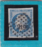 N° 14 A   PC  2199   MULHOUSE   /  HAUT-RHIN    REF 12118   + Varieté - 1853-1860 Napoleon III