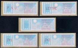 5 ATM Prototype , LSA, CROUZET, CARRIER, PNU 2.10, LETTRE 2.30, 4.20, J+1 6.20, J+2 11.00, PARIS JEANNE D'ARC, C00175663 - 1981-84 Types «LS» & «LSA» (prototypes)