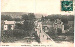 BAR SUR SEINE ... PANORAMA DU FAUBOURG DE LA GARE - Bar-sur-Seine