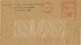 31491. Carta Aerea GUAYAQUIL (Ecuador) 1958. Franqueo Mecanico Banco Guayaquil - Ecuador