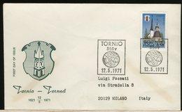 FINLANDIA - SUOMI FINLAND - FDC 1971 -  TORNIO - Finlandia