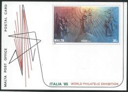 1985 Malta, Italia 85. Cartolina Postale Nuova (**) - Malta