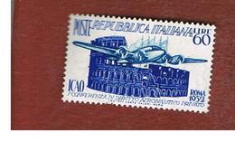ITALIA REPUBBLICA - UN. 697   - 1952 ICAO  - NUOVI  CON LEGGERI DIFETTI * - 6. 1946-.. Republic