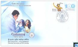 Sri Lanka Stamps 2018, Dental Services, Medical, Special Commemorative Cover - Sri Lanka (Ceylon) (1948-...)