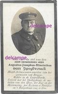 Oorlog Guerre Leger Aalmoezenier Wo1 Speybrouck Brugge En Overleden Te Brugge 1922 Croix De Geurre Pastoor Te Kooigem - Devotion Images