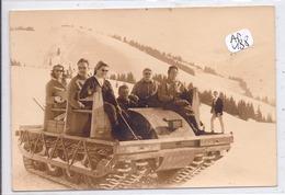 MEGEVE- CARTE-PHOTO- DESCENTE DE L ALPETTE A ROCHEBRUNE- 1966- PHOTO ARMAND A MEGEVE - Megève