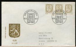 FINLANDIA - SUOMI FINLAND - FDC 1977 -  LION  0,20 - Finlandia