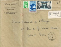 TP N° 1942, 1977 Et PA 46l Sur  Enveloppe En Recommandé De Versailles - Marcophilie (Lettres)
