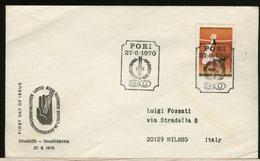 FINLANDIA - SUOMI FINLAND - FDC 1970 -  INVALIDIT  -  PORI  -  INVALIDO - Finlandia