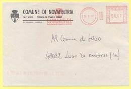 ITALIA - ITALY - ITALIE - 2002 - 0,41 EMA, Red Cancel - Comune Di Novafeltria - Viaggiata Da Novafeltria Per Lugo - Affrancature Meccaniche Rosse (EMA)