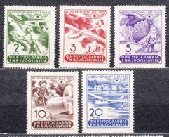 Yugoslavia Republic 1950 Airmail Mi#611-615 Mint Never Hinged - 1945-1992 Socialistische Federale Republiek Joegoslavië