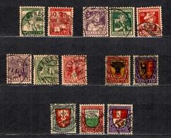 Suisse Pro-Juventute YT N° 149/156, N° 168/169 Et N° 173/175 Oblitérés. B/TB. A Saisir!, - Suisse