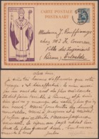 BELGIQUE 1933  SUR EP 50c CARDINAL MERCIER VIOLET  DE OHEY VERS ERTVELDE (DD) DC-1959 - Belgium
