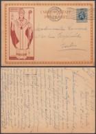 BELGIQUE 1933  SUR EP 50c CARDINAL MERCIER BRUN DE BRUXELLES VERS IXELLES (DD) DC-1960 - Belgium